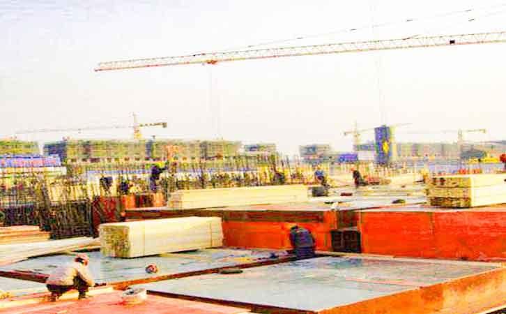 建筑红板工程建筑模板支撑选配不当