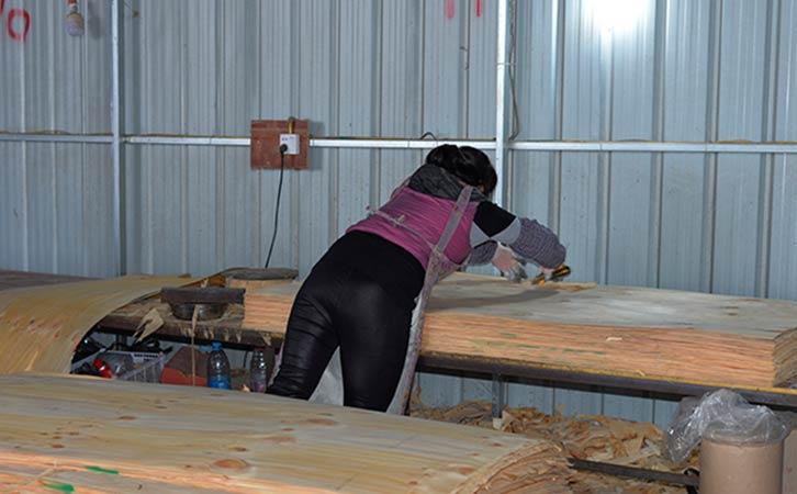 建筑模板生产