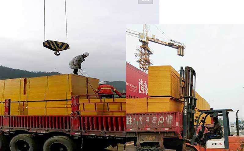 建筑红板厂家发车往江苏苏州工地