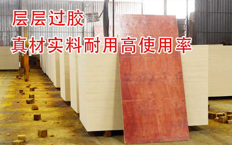 层层过胶的建筑红板,生产厂家可谓是真材实料